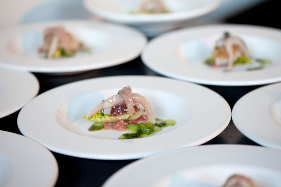 Gourmet restaurant food at Château de la Resle, boutique hotel and member of Design hotels close to Chablis and Auxerre