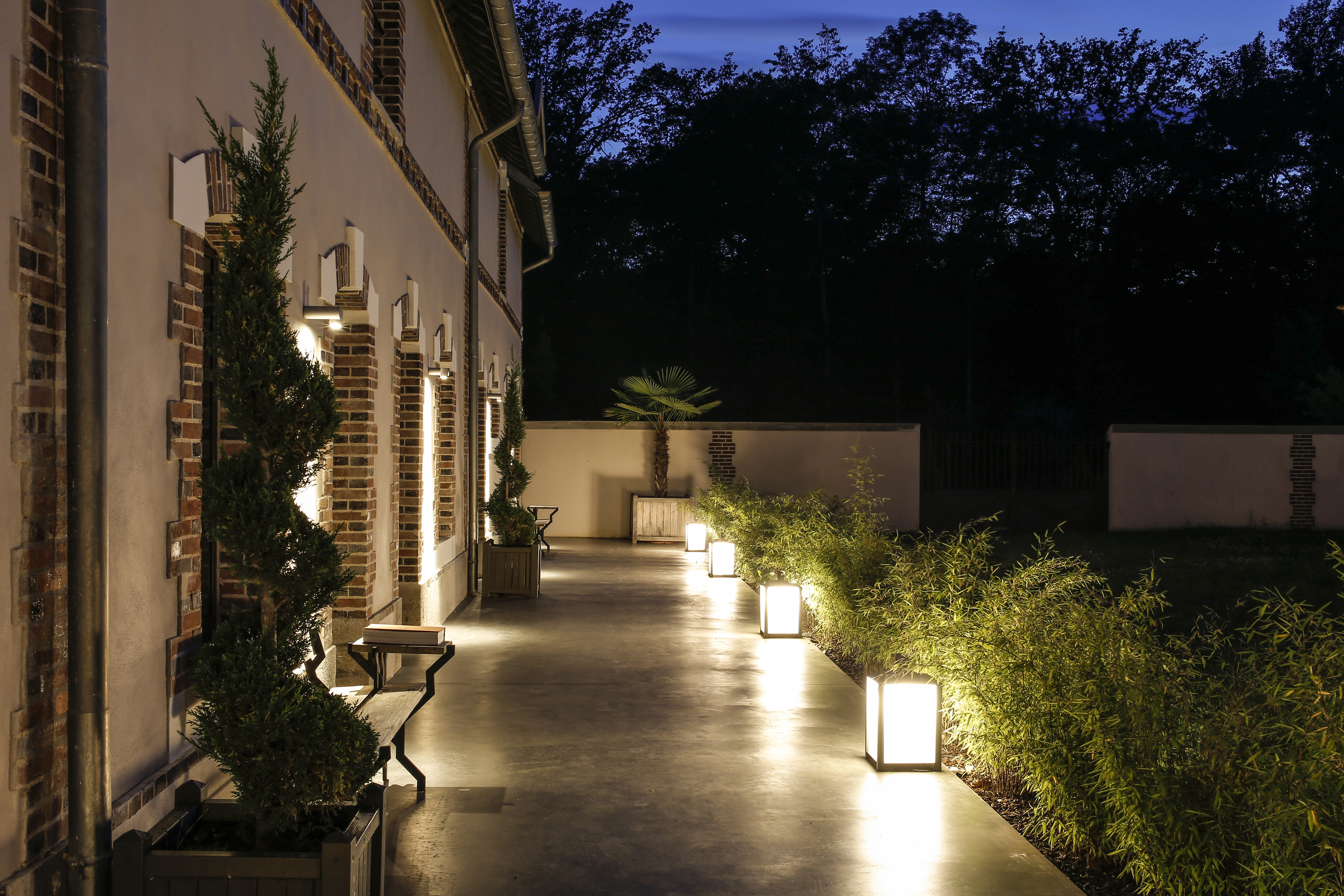 Outdoor Lighting At Boutique Hotel